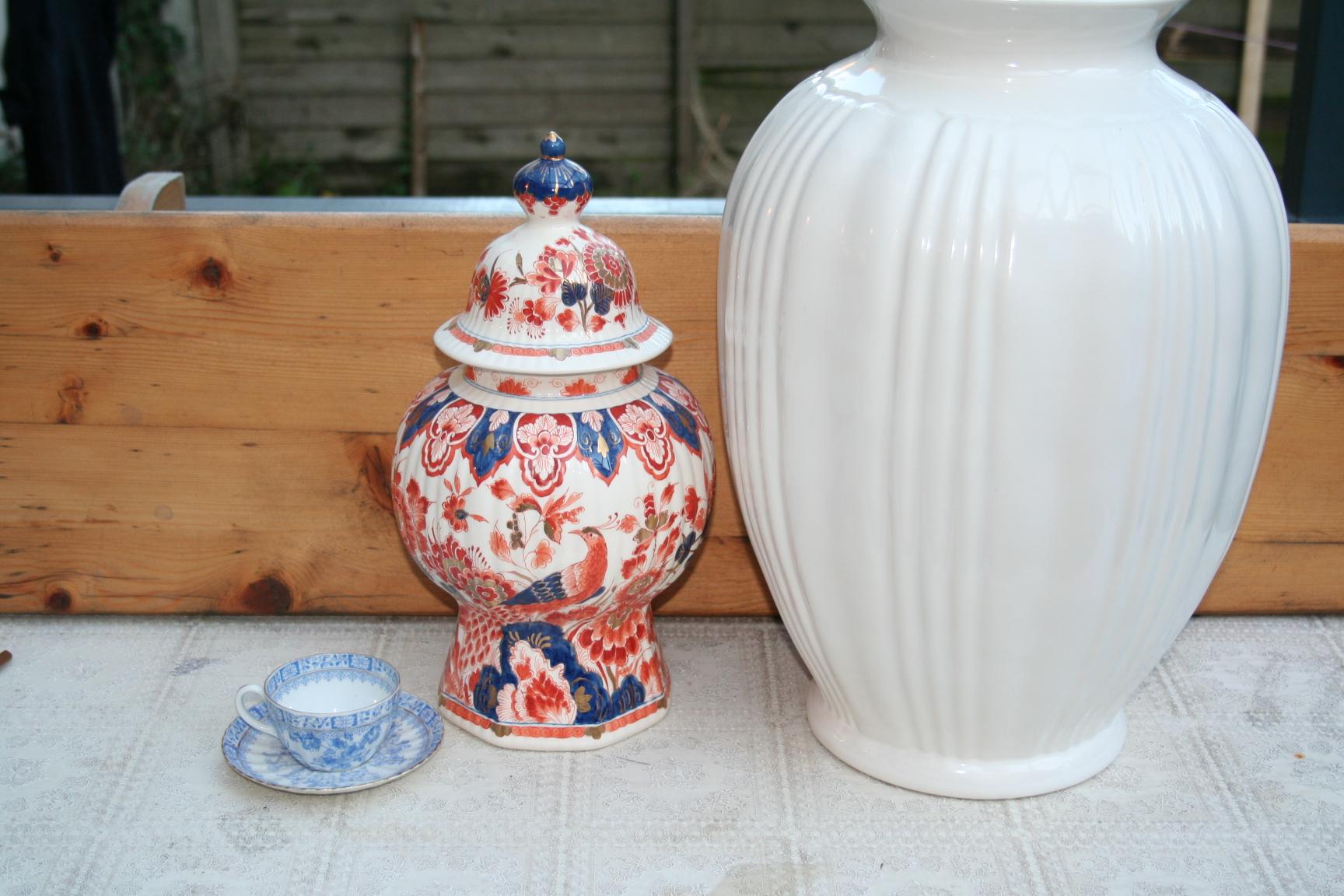 Fonkelnieuw Grote vaas, Wit Delfts aardewerk, Porceleyne fles - het derde Servies GX-73