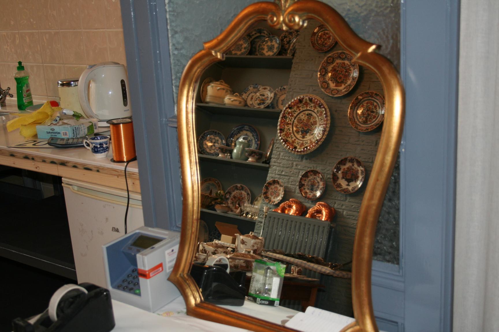 Spiegel Met Hout : Spiegel met vergulde lijst hout cm het derde servies